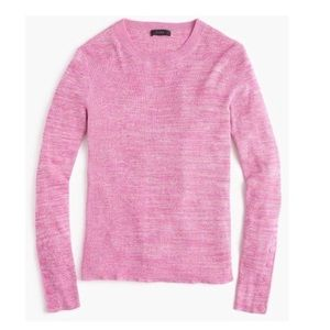 New J.Crew Pink Ribbed Snap Sleeves Sweater XXS